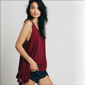Free People Intimately Hi Lo Cami W/Lace